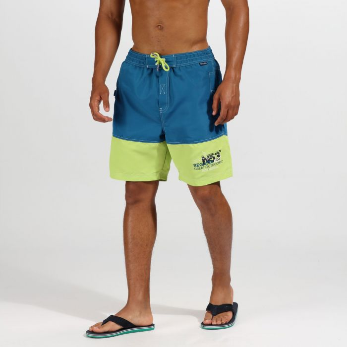 8897374cca Men's Bratchmar III Swim Shorts Sea Blue Lime Punch | Regatta ...