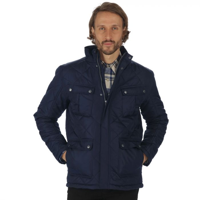Lathan Quilted 4 Pocket Jacket Navy