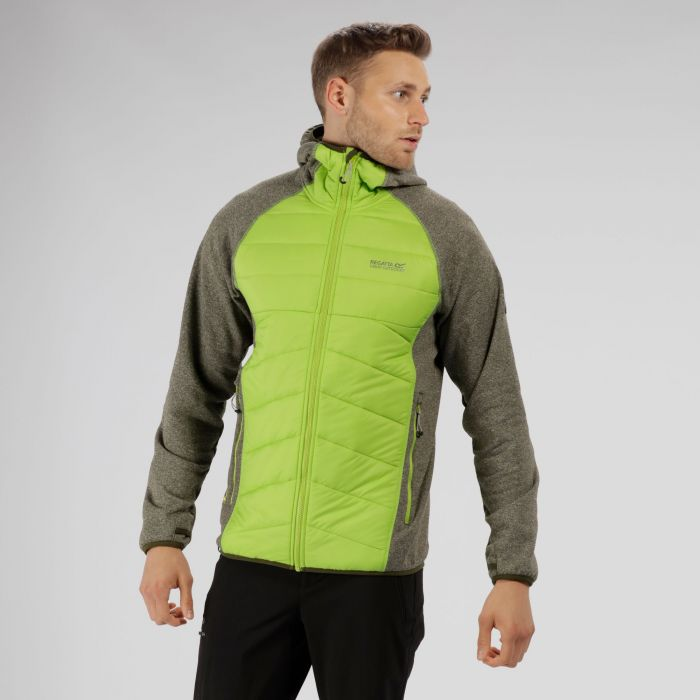 Andreson III Hybrid Stretch Lightweight Insulated Jacket Racing Green Lime Green