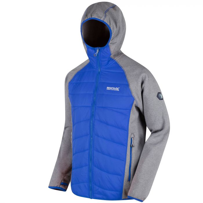 Andreson III Hybrid Stretch Lightweight Insulated Jacket Rock Grey Oxford Blue