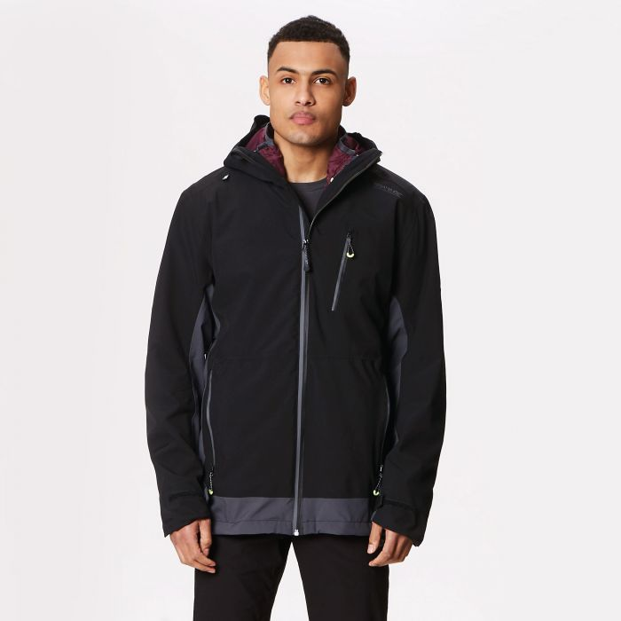 Wentwood III Waterproof 3-in-1 Jacket Black Seal Grey