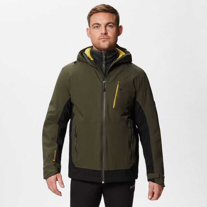 Wentwood III Waterproof 3-in-1 Jacket Dark Khaki Black