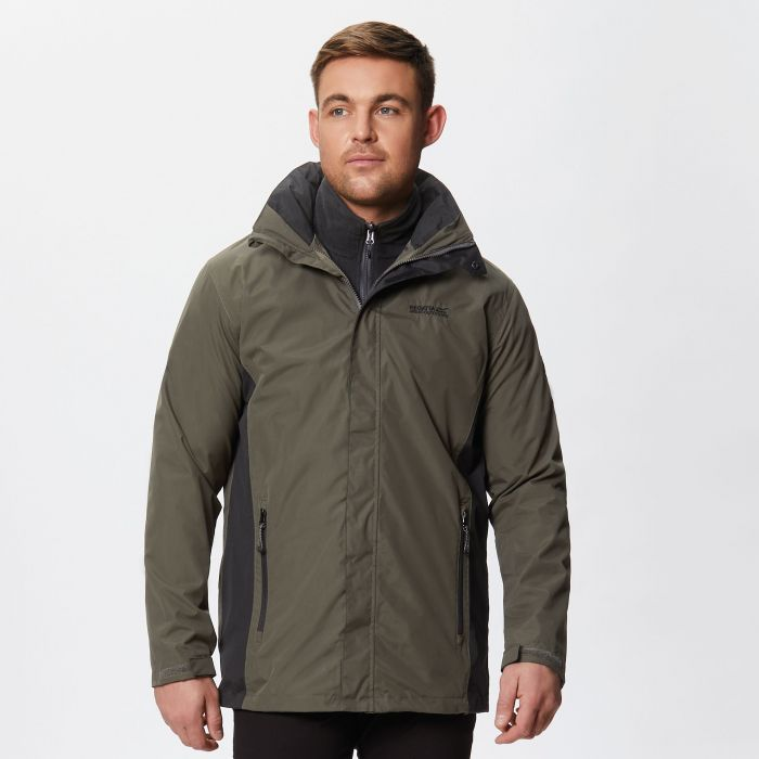 Telmar II Waterproof 3-in-1 Jacket Dark Khaki Black