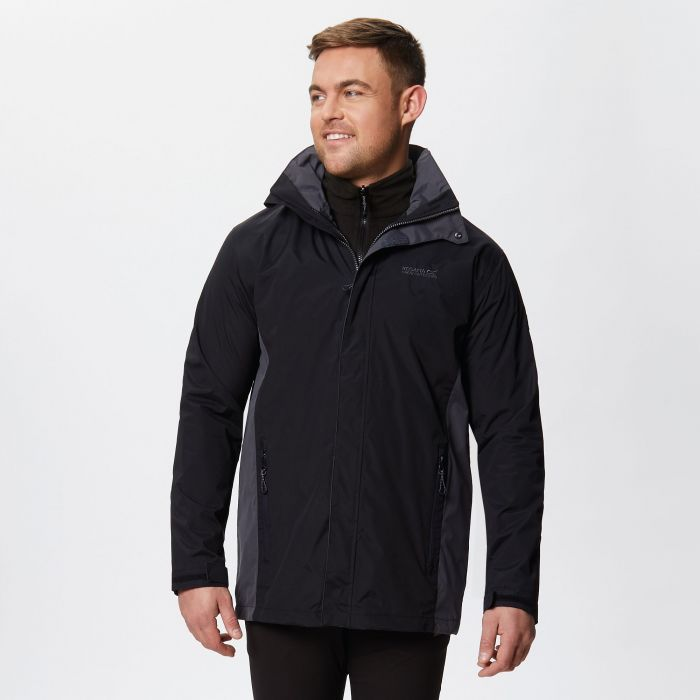 Telmar II Waterproof 3-in-1 Jacket Black Seal Grey