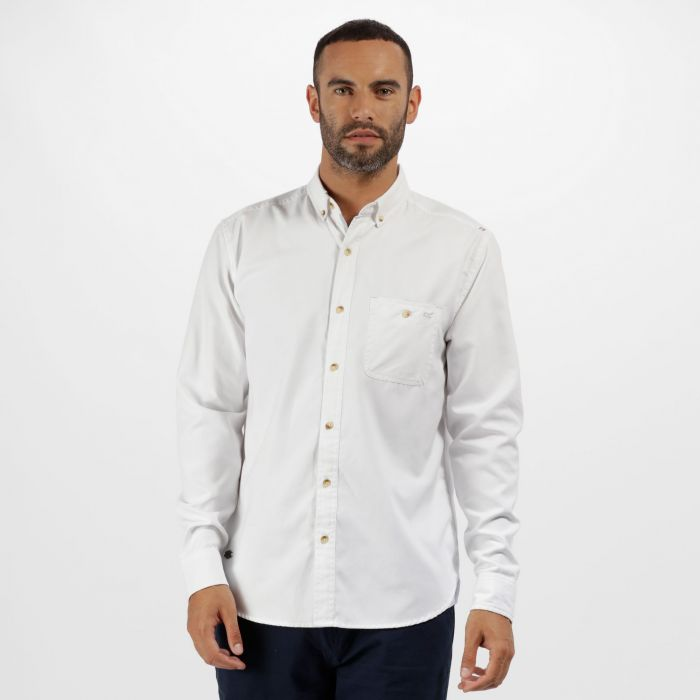 Bacchus Coolweave Long Sleeve Shirt White