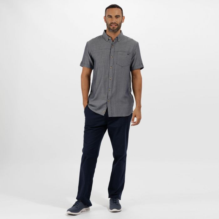 Damaro Coolweave Cotton Shirt Navy