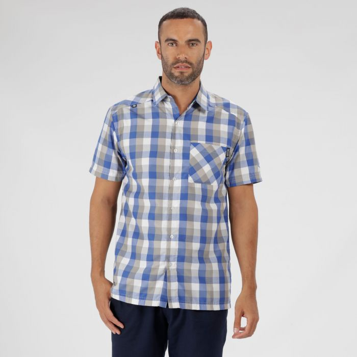 Kalambo III Checked Shirt Oxford Blue