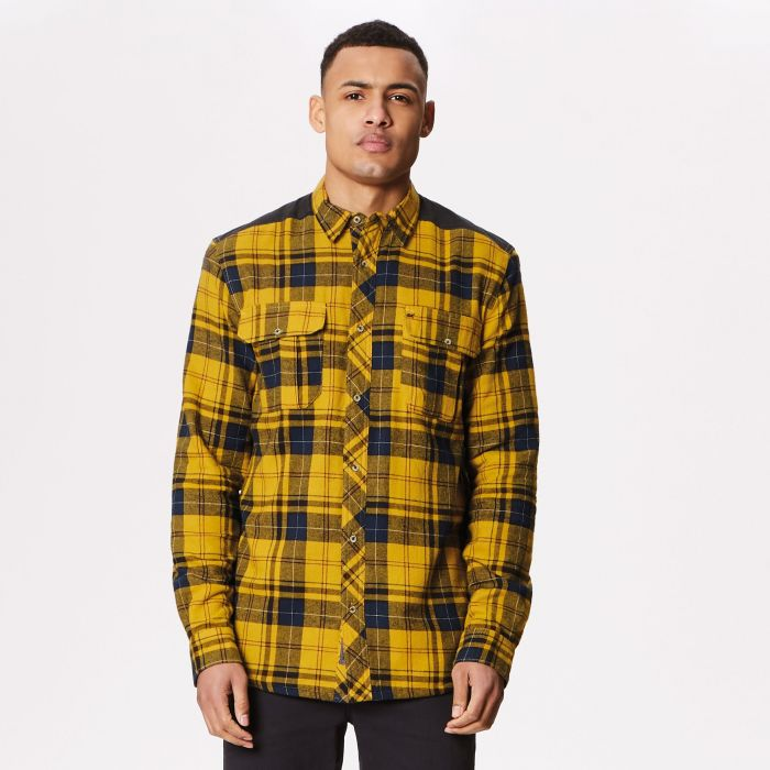 Tyrion Coolweave Cotton Shirt Mustard Seed
