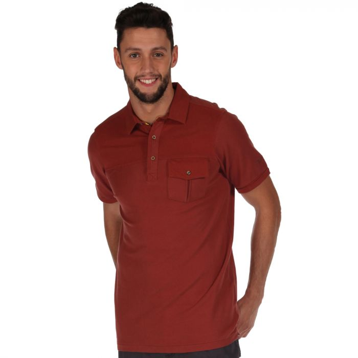 Bleeker Polo Shirt Mahogany