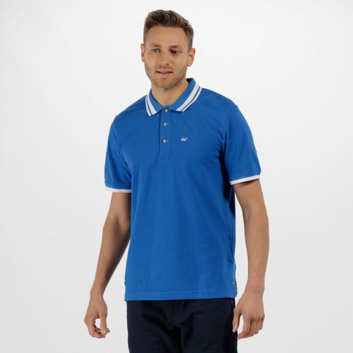 Talcott Coolweave Cotton Polo Shirt Oxford Blue