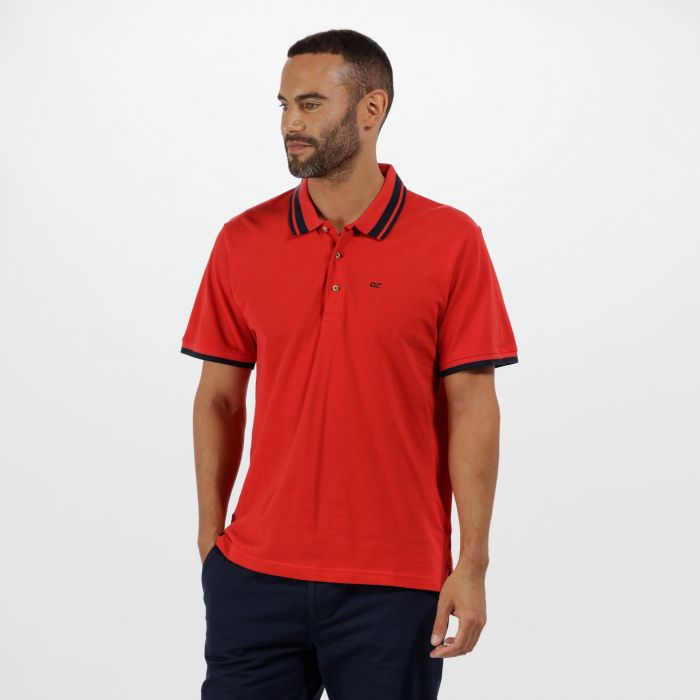 Talcott Coolweave Cotton Polo Shirt Pepper