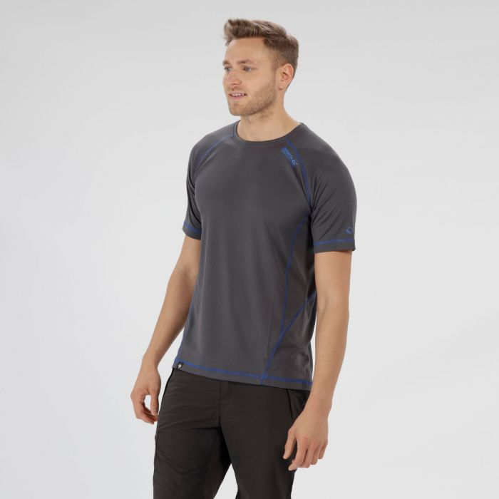 Virda II Lightweight T-Shirt Seal Grey Oxford Blue