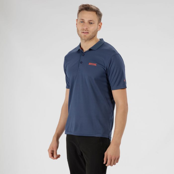 Maverik IV Polo Shirt Dark Denim