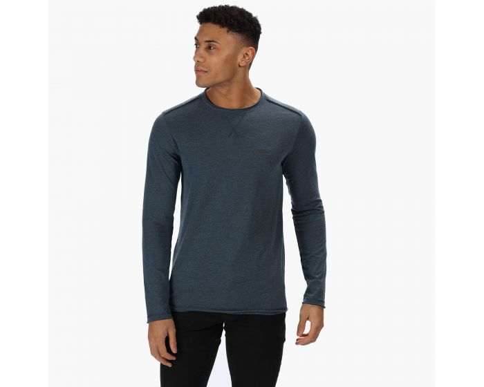 Regatta Mens Karter Coolweave Cotton Long Sleeve Tee Jersey T-Shirts//Polos//Vests