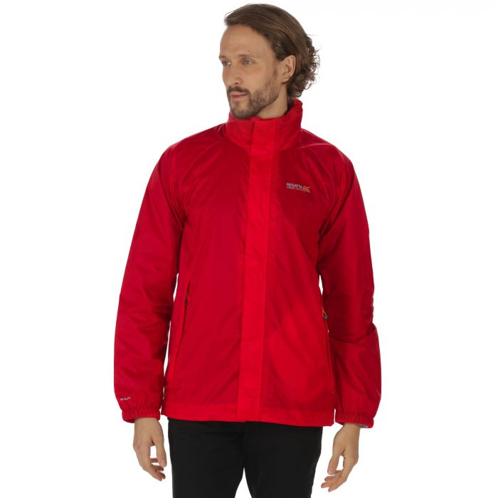 Magnitude IV Waterproof Shell Jacket with Concealed Hood Pepper Red