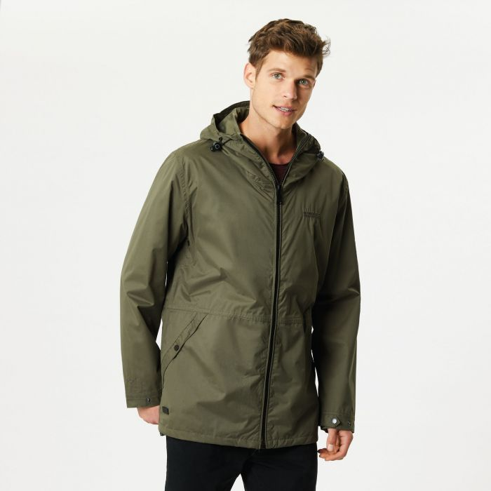 Harlan Lightweight Waterproof Hooded Jacket Olive Night