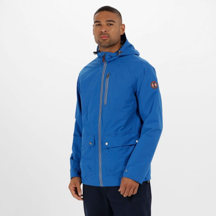 Hamlen Hooded Waterproof Jacket Oxford Blue