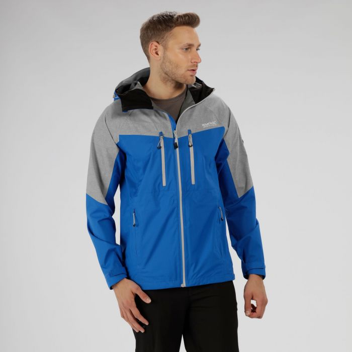 Montegra Reflective Waterproof Jacket Oxford Blue Seal Grey