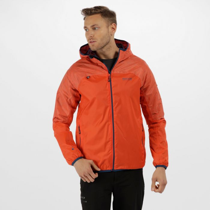Levin II Reflective Waterproof Jacket Amber Glow