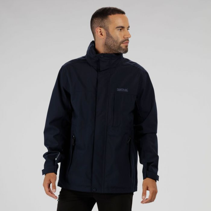 Northfield IV Waterproof Stretch Jacket with Concealed Hood Navy