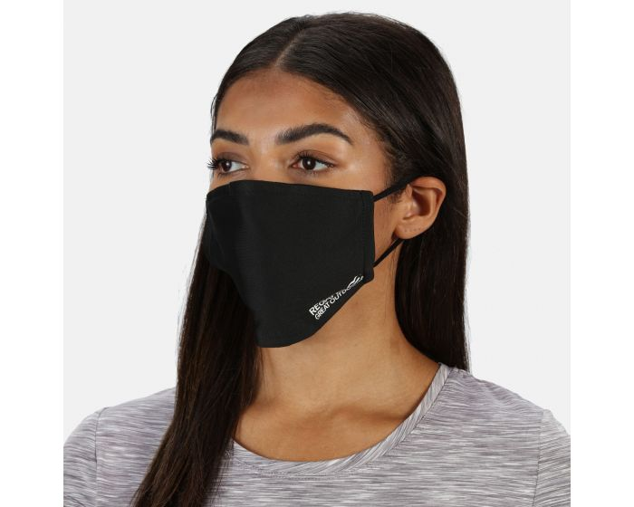 Adults Face Covering 3 Pack Black