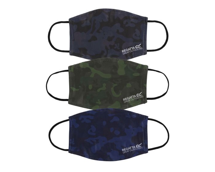 Adults Face Covering 3 Pack Black Navy