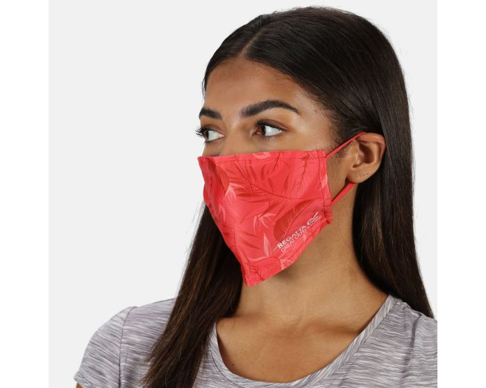 Adults Face Covering 3 Pack Red Sky Black