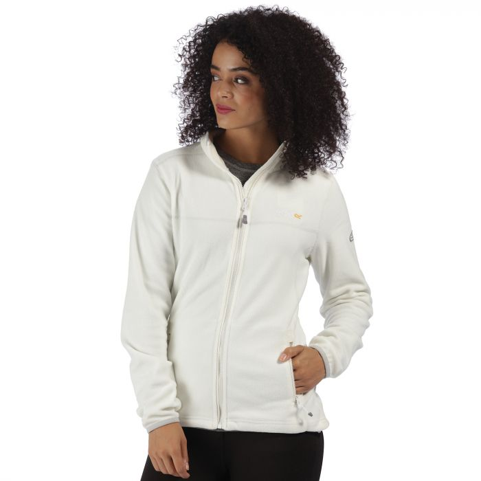 Floreo II Mid Weight Full Zip Fleece Snow White