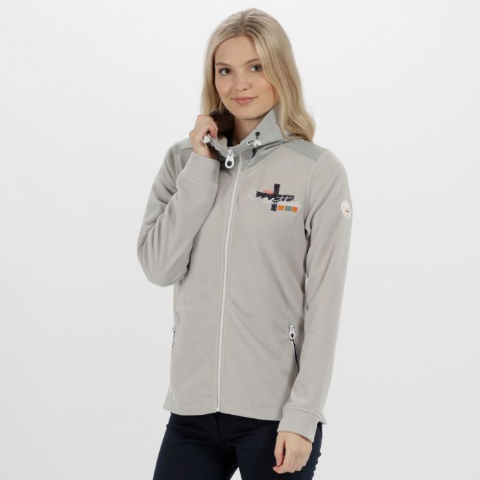 Darlene Lightweight Full Zip Fleece Light Steel
