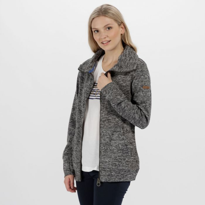 Elayna Full Zip Marl Fleece Ash
