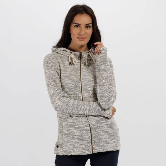 Orlenda Full Zip Fleece Hoody Light Vanilla