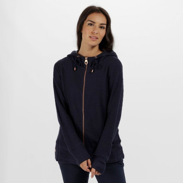Orlenda Full Zip Fleece Hoody Navy