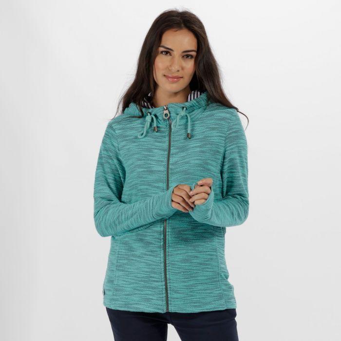 Orlenda Full Zip Fleece Hoody Jade Green