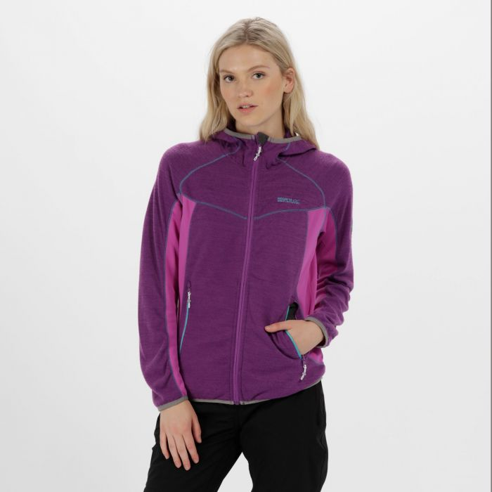 Willowbrook IV Knit Effect Fleece Ultra Purple