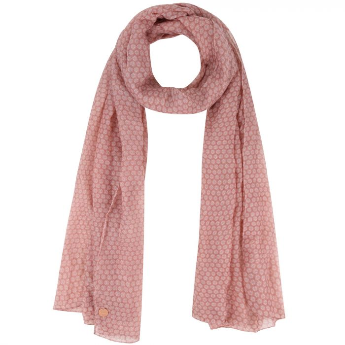 Sancia Printed Scarf Ash Rose