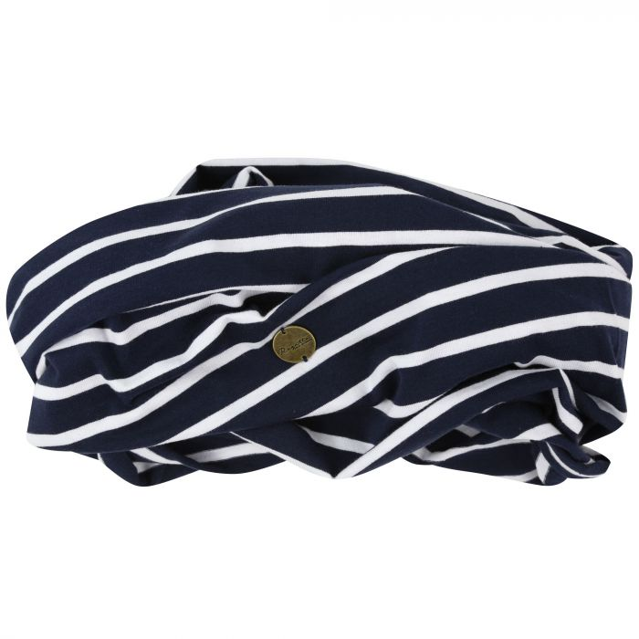 Shaila Striped Jersey Scarf Navy