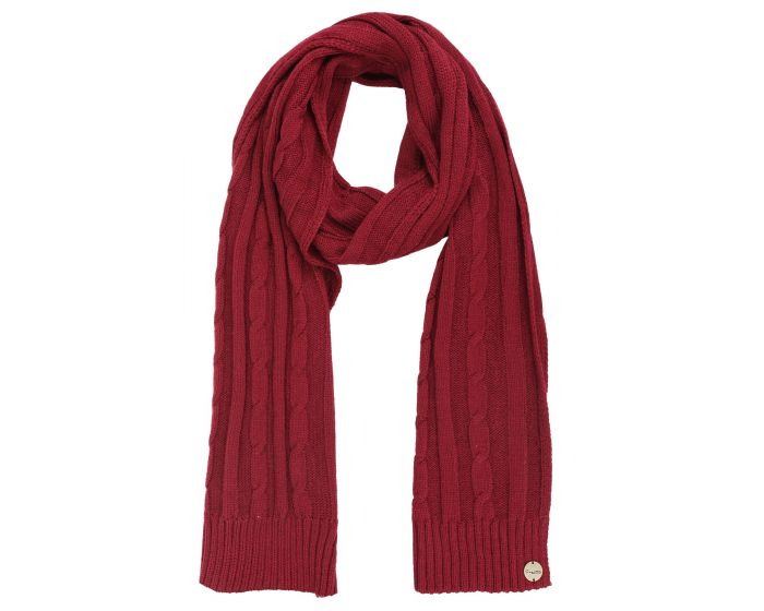 Womens Multimix Ii Cable Knit Scarf Rumba Red