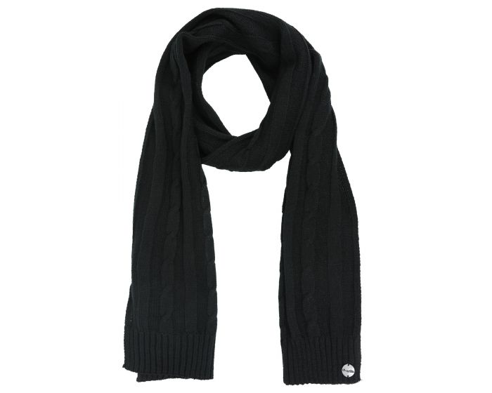 Womens Multimix Ii Cable Knit Scarf Black