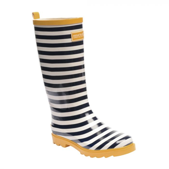 Women's Fairweather Wellington Boots Navy White Glowlight