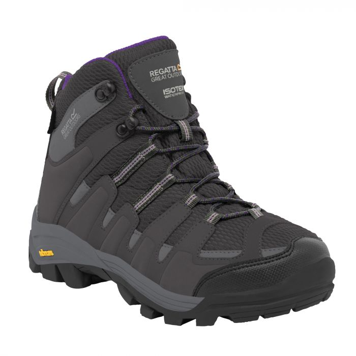 Women's Burrell Hiking Boots Steel Alpine Purple