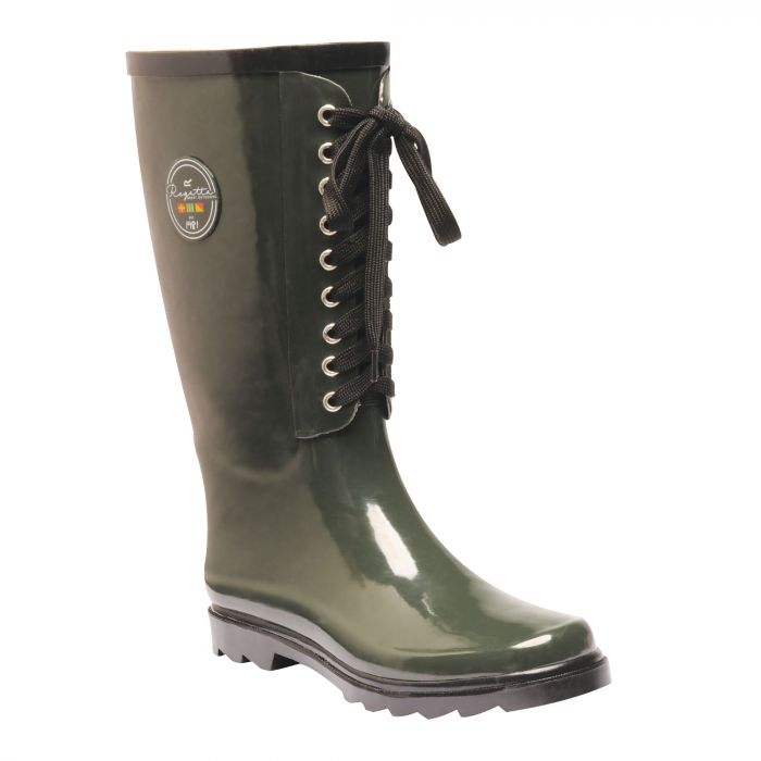 Women's Bayeux II Mid Calf Wellington Boots Dark Olive Black