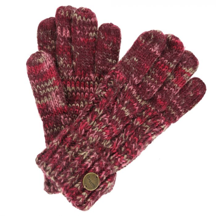 Women's Frosty II Knit Gloves Burgundy