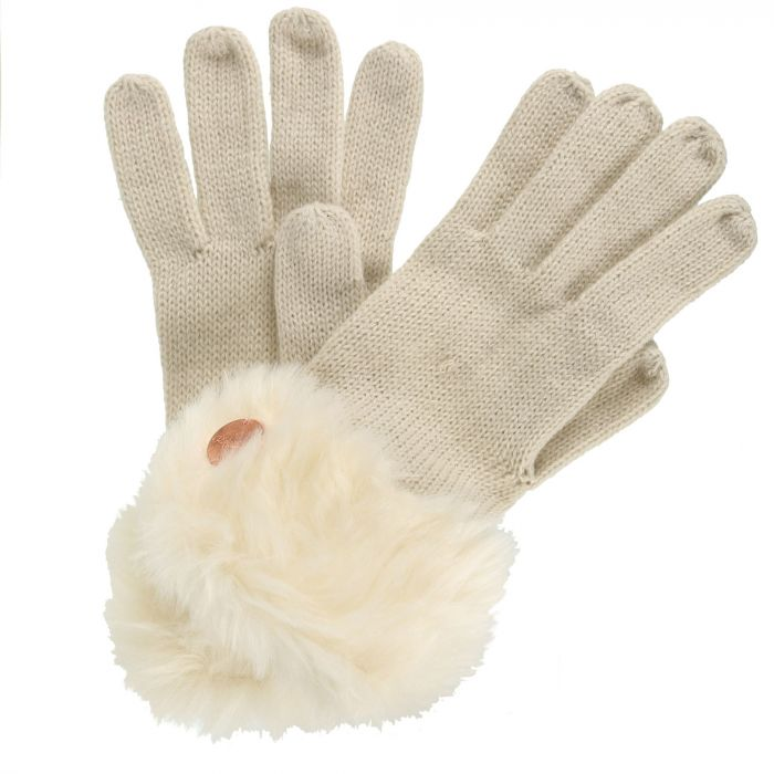 Luz Cotton Jersey Knit Gloves LightVanilla