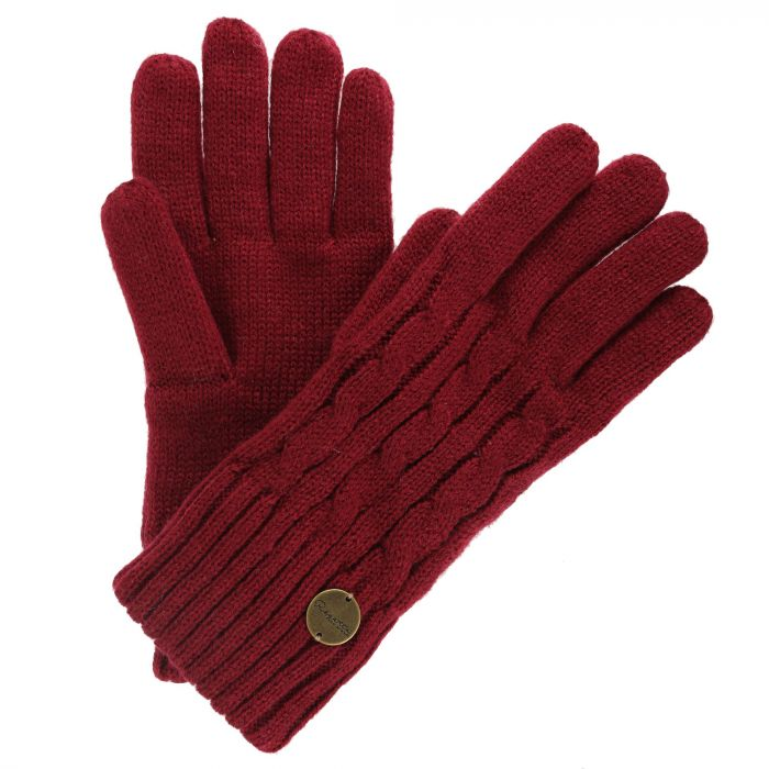 Multimix II Fleece Lined Cable Gloves Rumba Red
