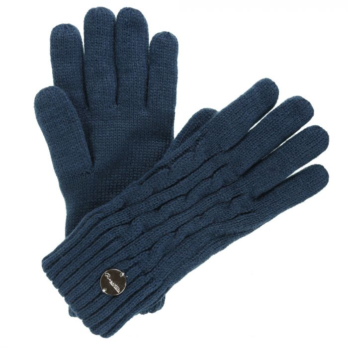 Multimix II Fleece Lined Cable Gloves MajolicaBlue