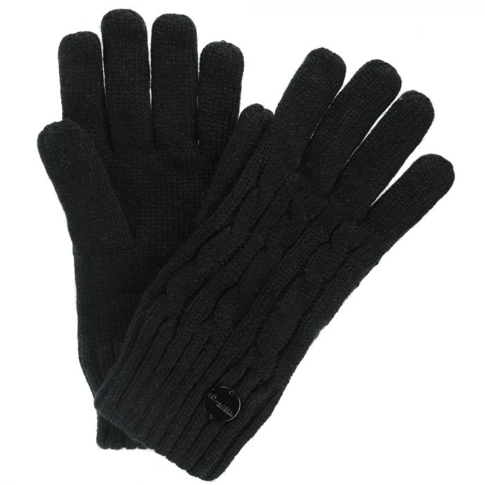 Multimix II Fleece Lined Cable Gloves Black