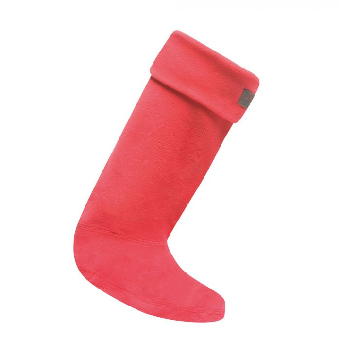 Women's Fleece Wellington Liner Socks Virtual Pink