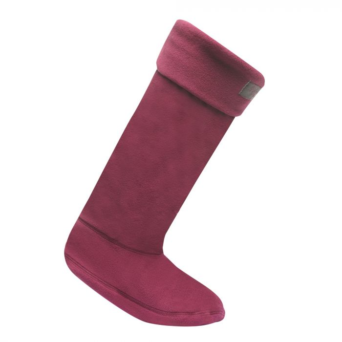 Women's Fleece Wellington Liner Socks Blackcurrant