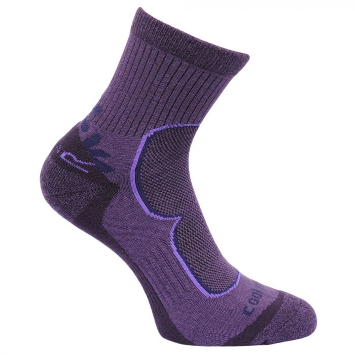 Women's 2 Pack Active Socks Blackberry Vivacious