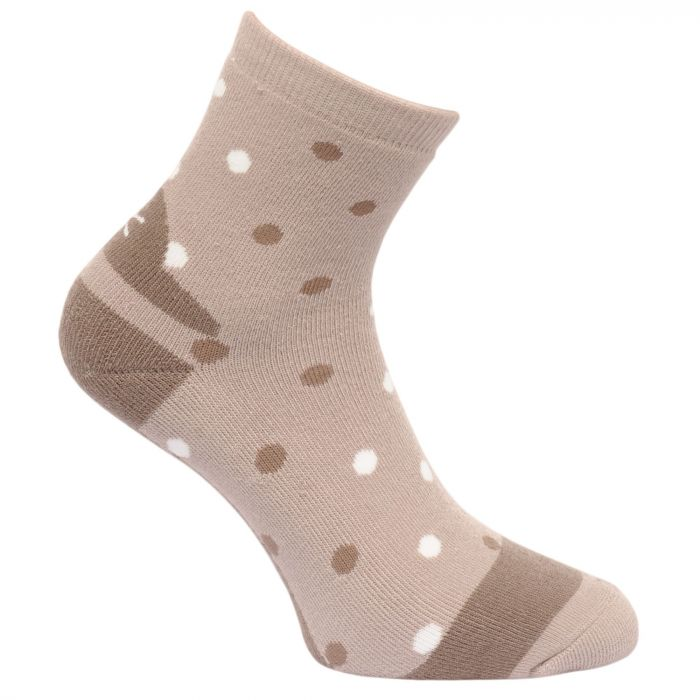 Women's 3 Pack Lifestyle Polka Dot Socks Barley-Black-Plum Wine